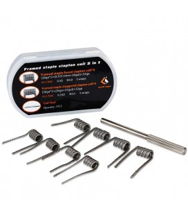 BOX/KIT COIL KA1/Ni80 FRAMED STAPLE 2 EN 1 (8pcs) – GEEK VAPE